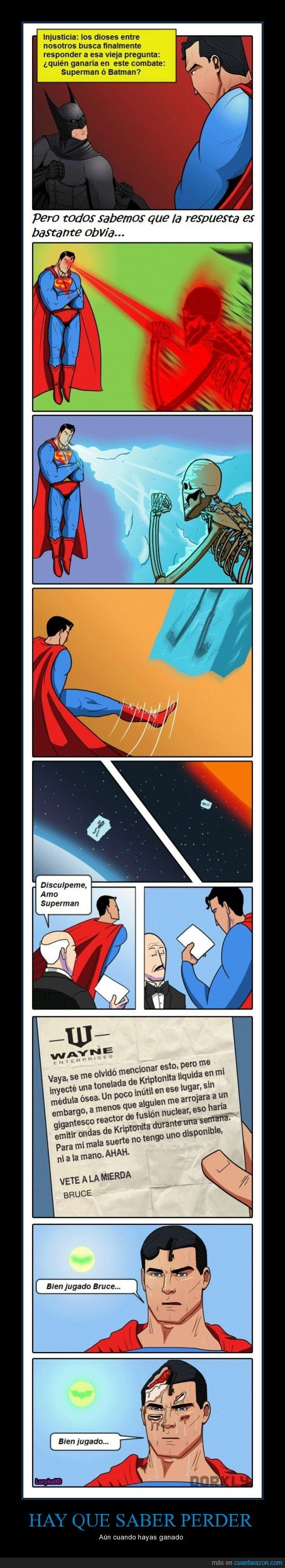 Alfred,Batman,Empate,kriptonita,Superman,Troll