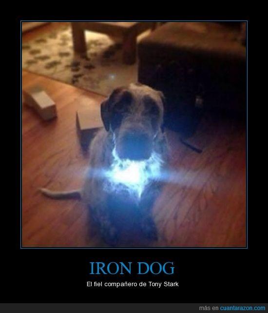 iron dog,iron man,luz,pecho