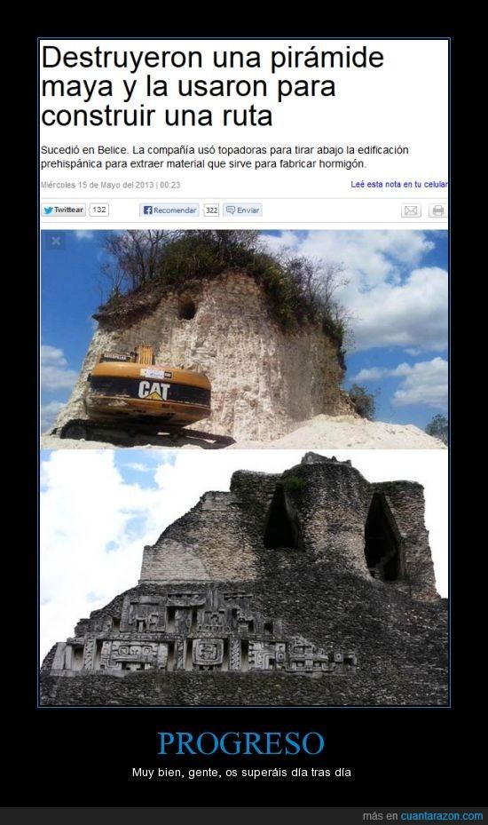 Belice,destruyen una pirámide maya,fue erigida hace unos 2.300 años,insolito,Jaime Awe,pirámide maya