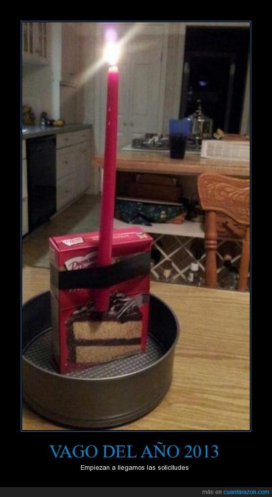 año,caja,pastel,Vago,vela