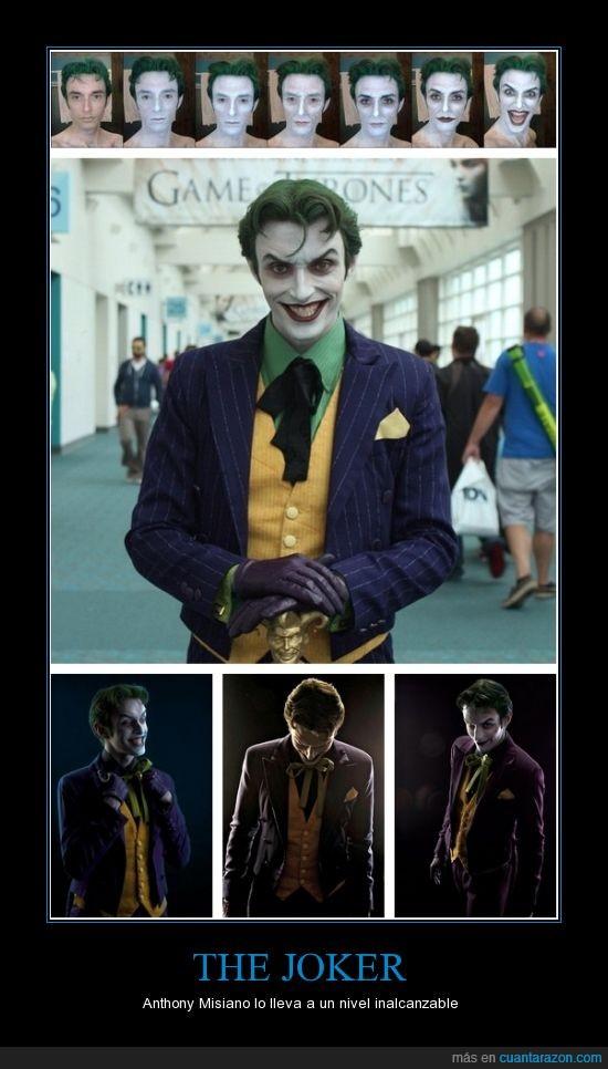 Anthony Misiano,Cosplay,Impresionante,Sin palabras,The Joker