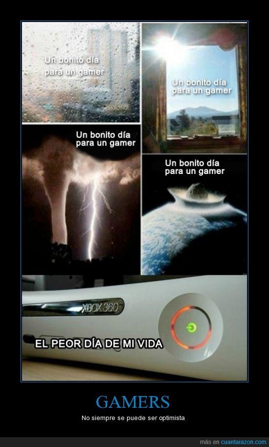 destruccion,gamer,gamers,lluvia,luces rojas,sol,xbox 360