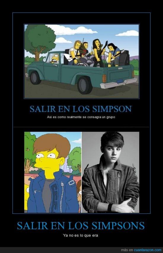famoso,Justin Bieber,Metallica,salir,Simpsons