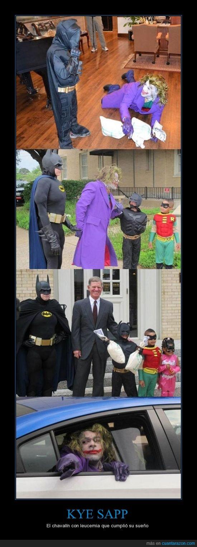 batman,joker,Kye Sapp,niño,salvar