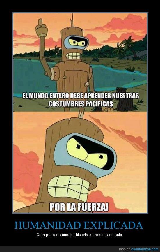Bender,Futurama,historia,pacifico,por la fuerza