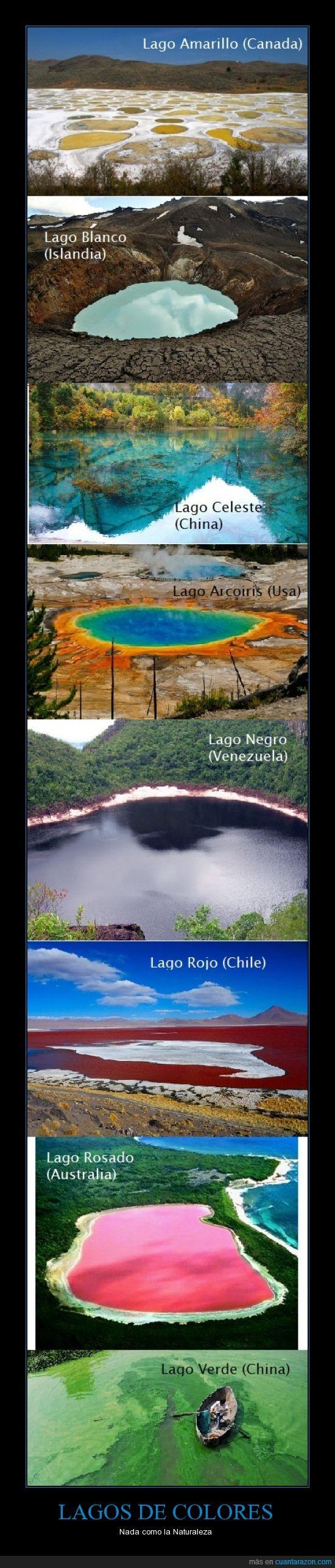 Austria,Canada,China,Lagos de colores,Naturaleza,Usa