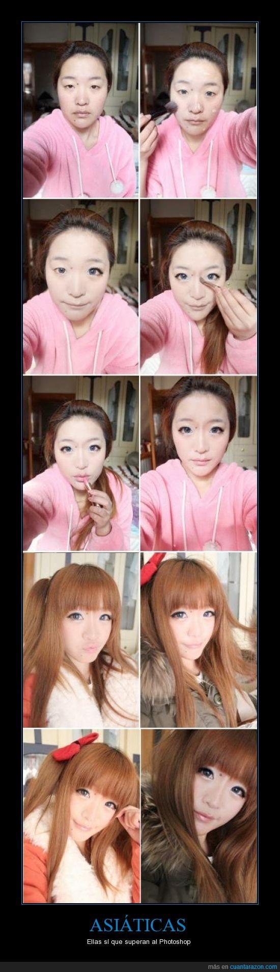 asiaticas,cambio,chinas,japonesas,maquillaje,photoshop,sorprendente,superar