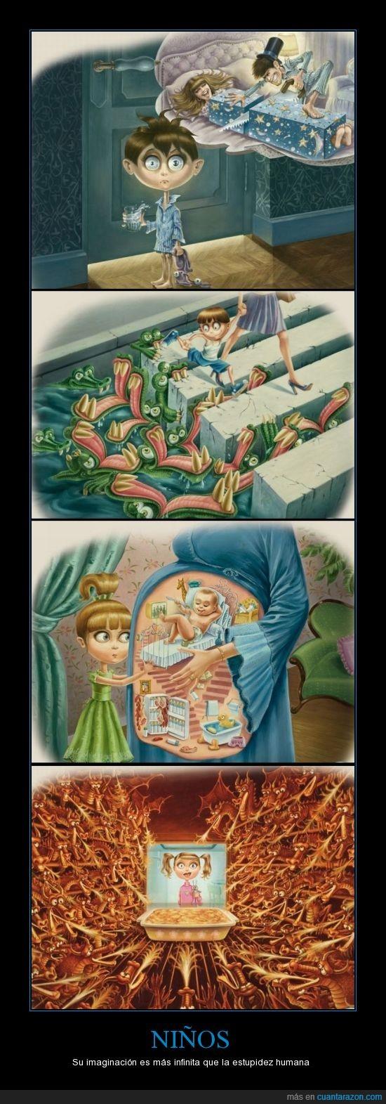 cosas que uno va perdiendo,grandeza,imaginacion,niños