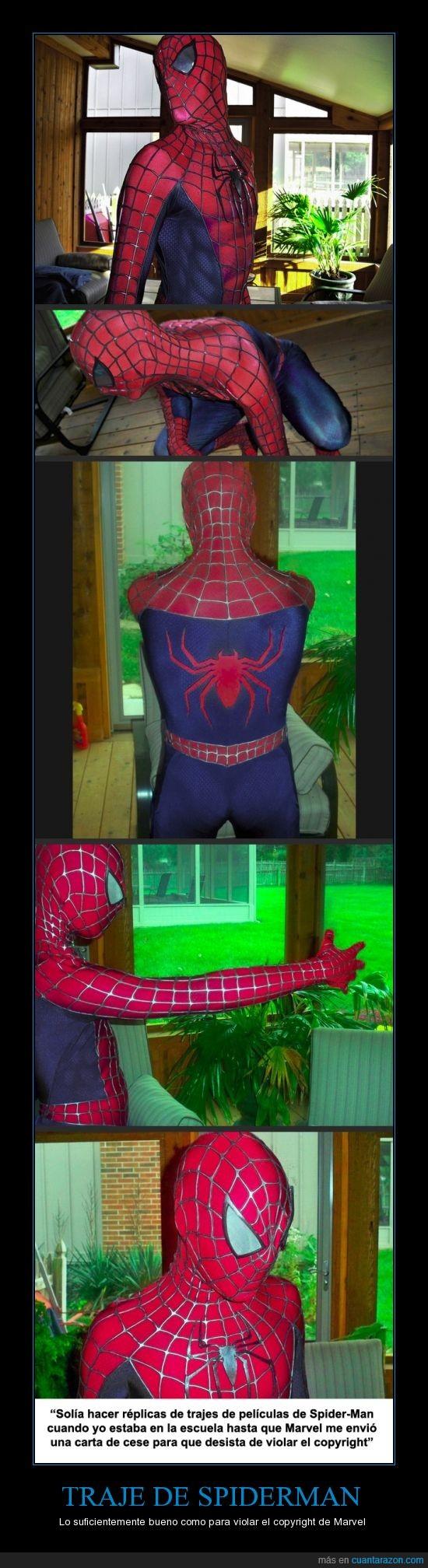 copyright,marvel,spiderman,traje