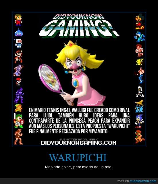 bigotazo de portuguesa,malvada,Mario,miyamoto,nintendo,peach,rechazada,tennis,Warupichi