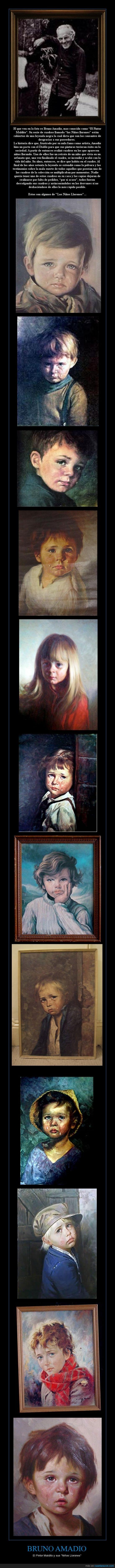 Bruno Amadio,cuadros,maldicion,niños llorones,pintor