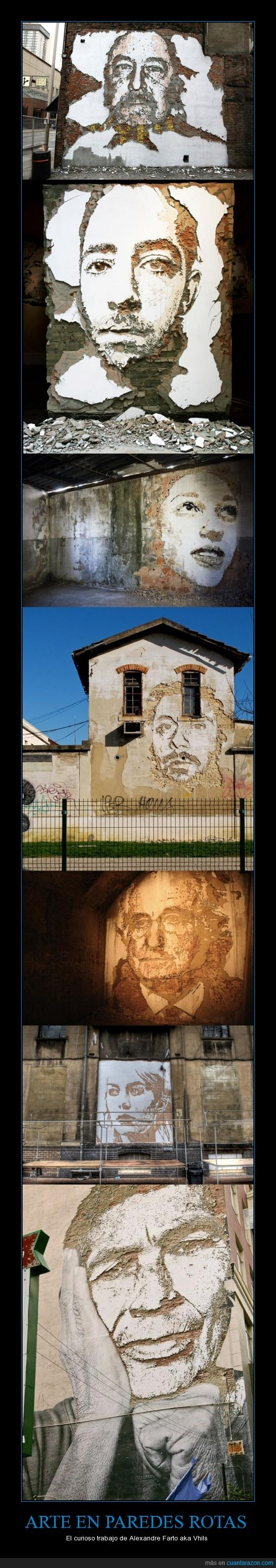 arte,muro,pared,retrato,roto,street-art