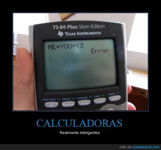 amor,calculadora,error,tu + yo