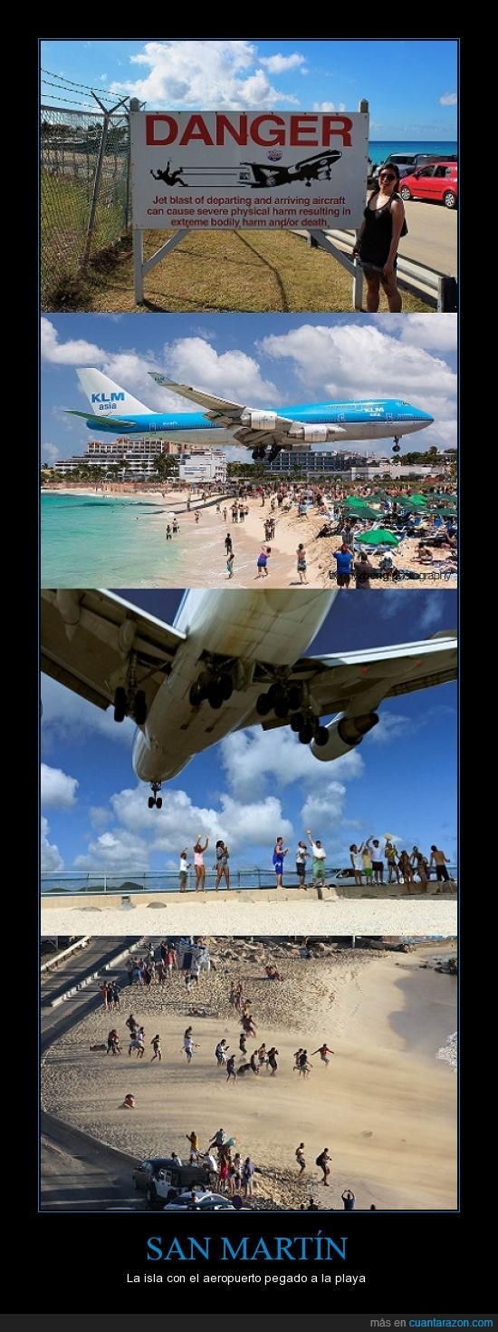 aeropuerto,aviones,isla,maho,peligro,playa,saint martin,san martín