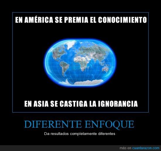 america,asia,castiga,china,conocimiento,ignorancia,japon,mundo,premia