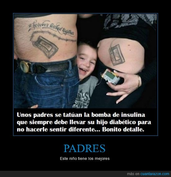 bomba,diabetico,feliz,insulina,niño,padres,siempre,tatuaje