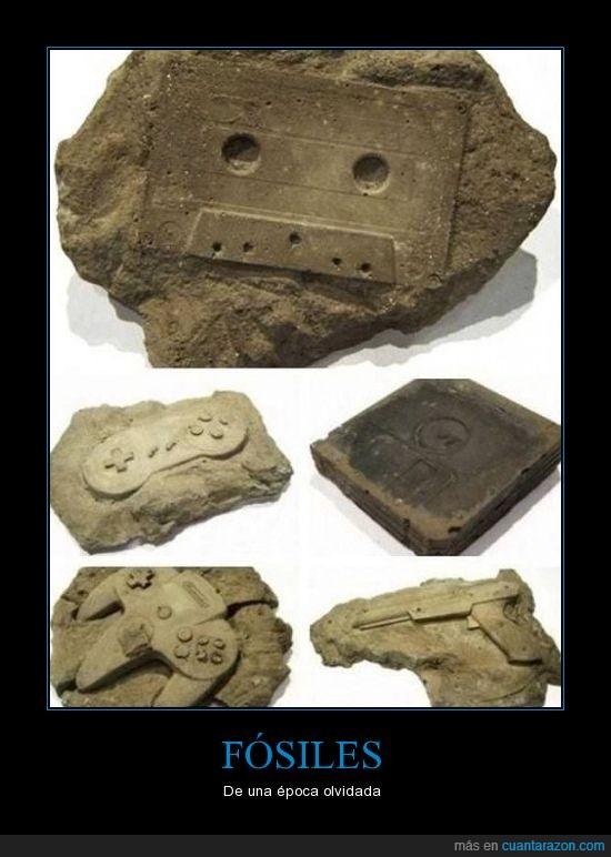 cartucho,época dorada,fósiles,mando,nintendo. juegos,tierra