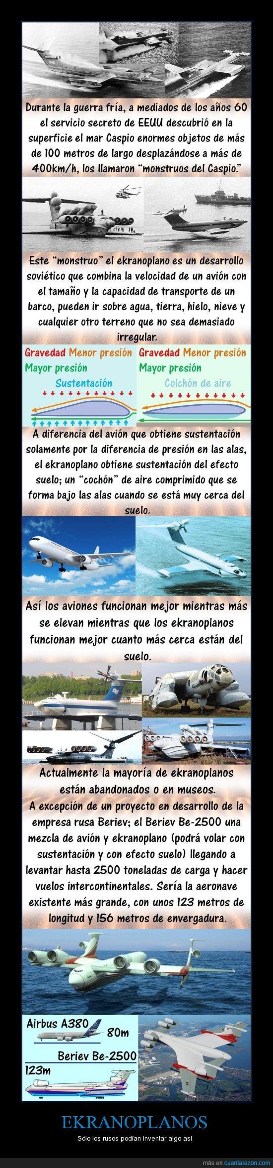 avión,ekranoplano,gigante,invento,máquina,Rusia,soviéticos