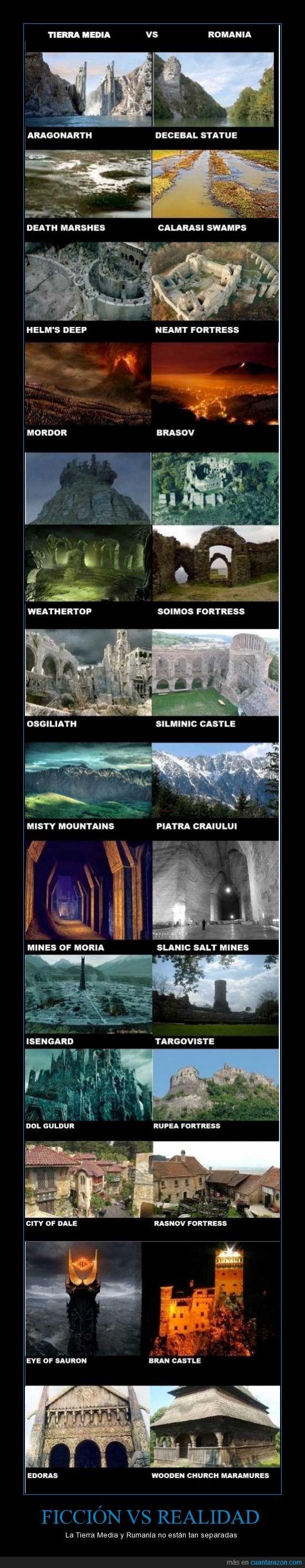 el señor de los anillos,mordor,realidad,rumanía,sauron,tierra media