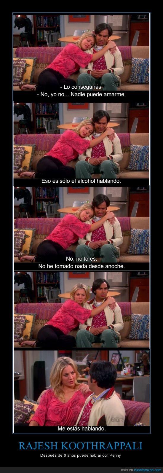big bang theory,borracho,hablar,mujer,penny