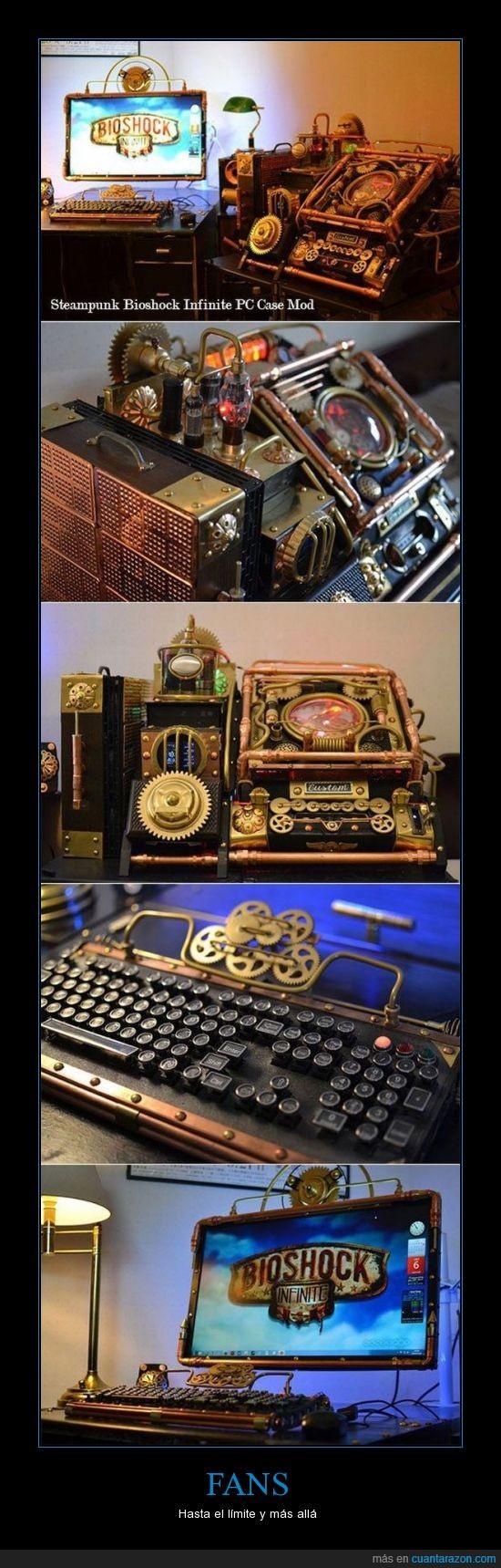bioshock infinite,fan,ordenador,steampunk