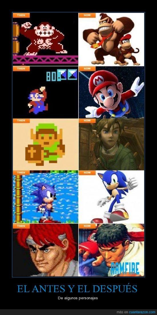 Donkey Kong,Link,Mario,Personajes,Sonic