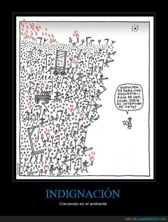 crisis,cuttlas,encuesta,España,indignados,intencion,políticos,revolución,voto