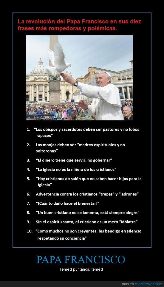 buena persona,dios,fran,frases,iglesia,miedo,papa. francisco,temed