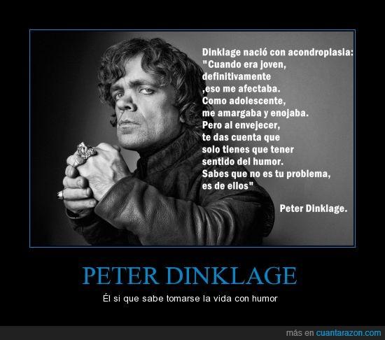 Acondroplasia,afrontar,Frase,humor,Peter Dinklage