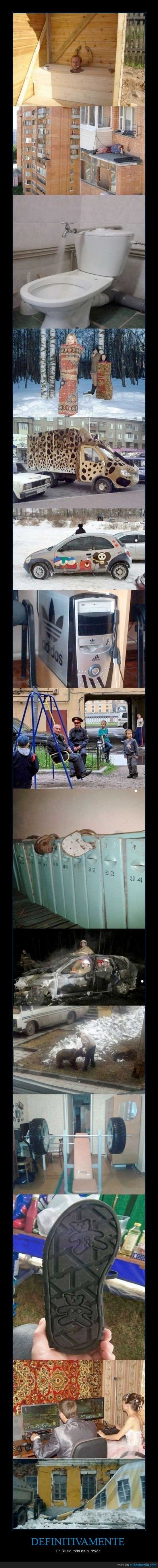 al reves,ex union sovietica,locura,mientrastanto,raro,Rusia