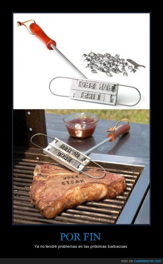 acero,barbacoa,carne,marca,marcar,nombre,sello