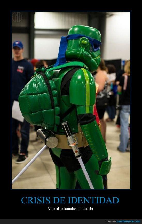 humano,ninjas,star wars,Stormtrooper,tortugas