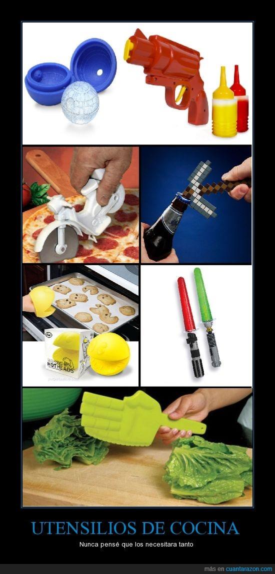 Cocina,Friki,laser,pacman,pizza