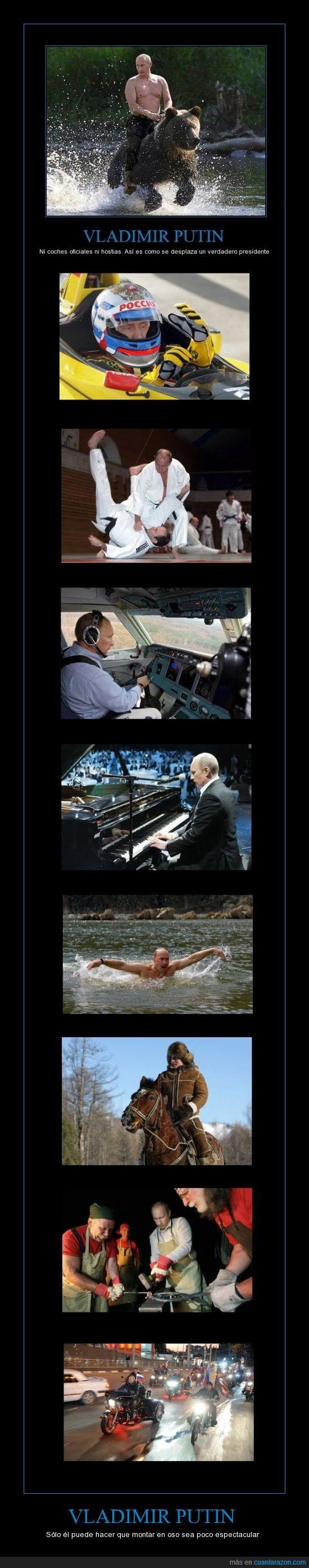avión,caballo,fórmula 1,herrero,karate,Motos,natación,piano,rusia,rusos,Vladimir Putin,¿pero que dices?