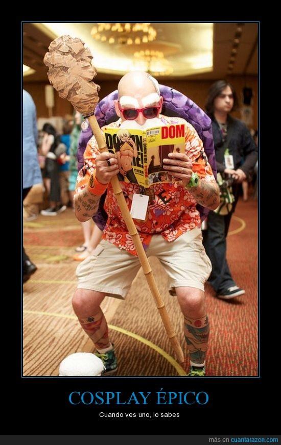 cosplay,dragon ball,muten roshi,tortuga