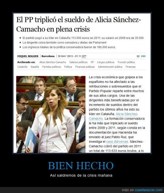 Alicía Sanchez Camacho,crísis,notícia,política,PP