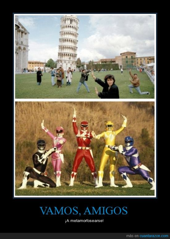 foto,pisa,pose,power rangers,torre