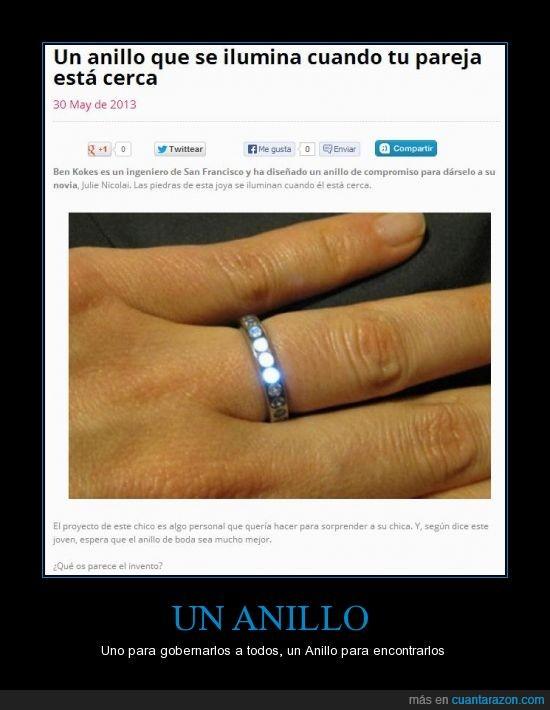 anillo,anillo único,cerca,como Dardo con los orcos,ilumina,luz,pareja