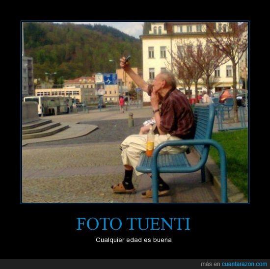 abuelo,banco,camara,foto,parque,señor,tuenti