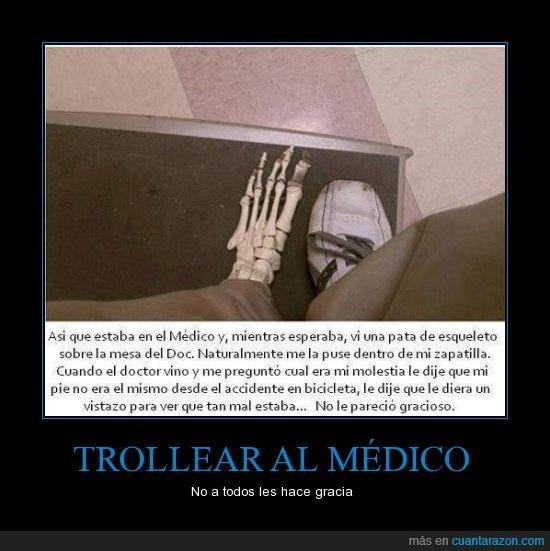 cita,doctor,esqueleto,medica,medico,trollear