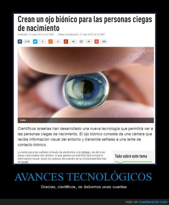 Actualidad,Internacional,Israel,Ojo Bionico,Salud,Tecnología
