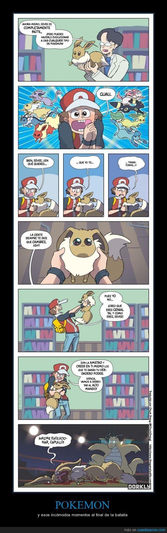 como pikachu,eeve,evolución,evolucionar? no gracias,Pokemon