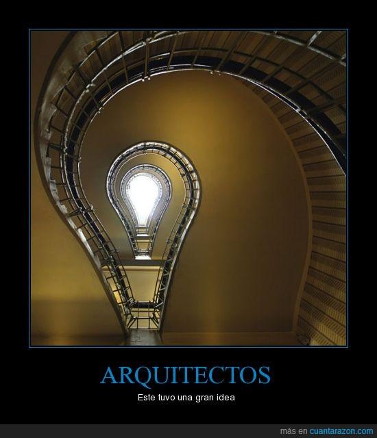 Arquitecto,Curioso,Edificio,Escalera,Foco,Idea,Lampara
