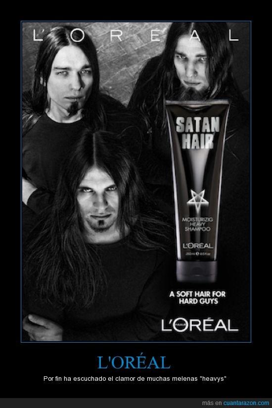 black metal,l'oreal,que cosas ve uno en la web,shampoo,shampoo metalero