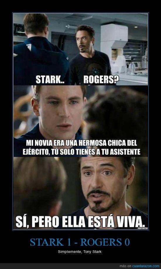 Cuánta Razón Stark 1 Rogers 0