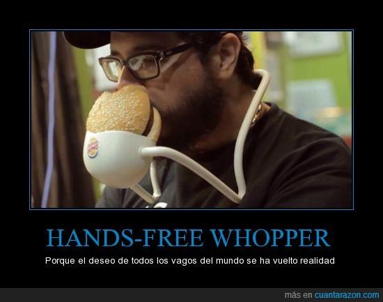 Burger King,engordar,hamburguesas,mira mamá puedo comer sin manos,vago
