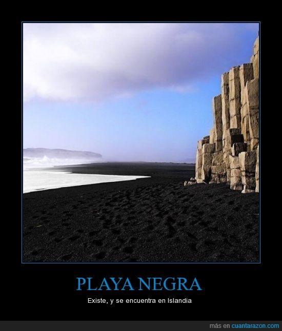 da un poco de miedo,Islandia,Mola mucho,Playa negra