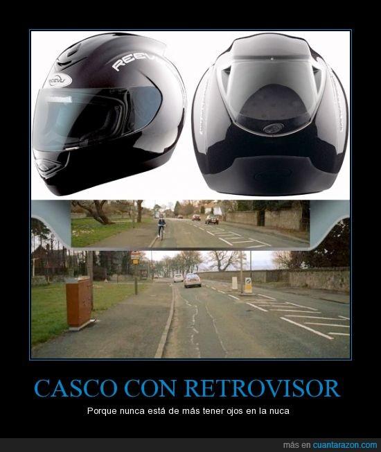 accidente,casco,detras,integrado,moto,retrovisor,trasera,vision