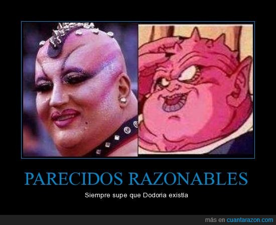 dodoria,drag queen,dragon ball z,modificaciones,mujer,piercings