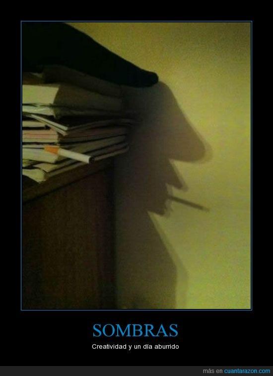 aburrido,boina,cigarro,creatividad,hombre,libros,Sombras,tabaco